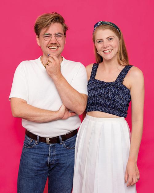 Oliver van Klaarbergen en Tessa Friedrich, photoshoot voor Onder het Buro