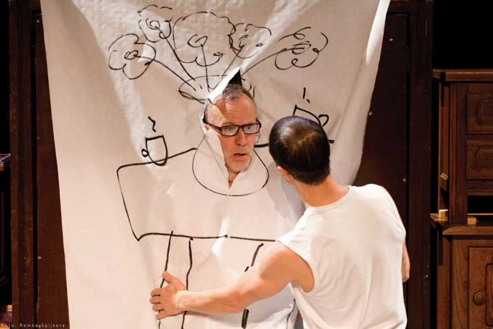 Bliep Bliep een jeugdtheater voorstelling van theatergroep Dender. Zij maken cartoontheater, een mix van fysiek theater, live tekeningen en live muziek