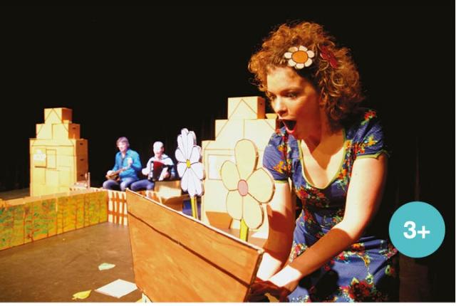 Buurman buurvrouw jeugdtheater voorstelling van Koeterwaals