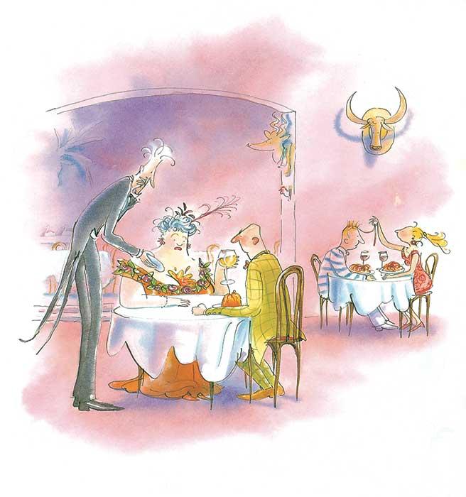 Een ober van niks een poppentheater voorstelling van Jansen & de Boer gebaseerd op het boek van Tjibbe Veldkamp
