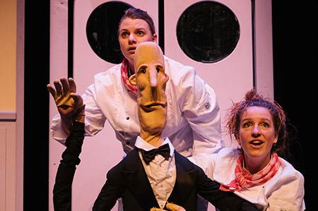 Ober van Niks een jeugdtheater voorstelling van Jansen en de Boer tijdens de presentatiedag voorspeeldag van Buro Bannink