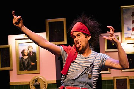 Piraten van kamer 16 een jeugdtheater voorstelling van Heer Otto tijdens de presentatiedag voorspeeldag van Buro Bannink