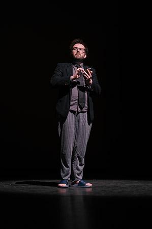 Nietsnut een jeugdtheater voorstelling van Wie Walvis tijdens de presentatiedag voorspeeldag van Buro Bannink