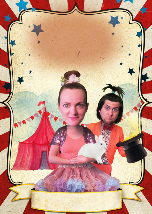 Zirkoes Fantaztika jeugdtheater Heer Otto circus illustratie