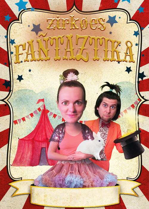 Zirkoes Fantaztika jeugdtheater Heer Otto circus flyer