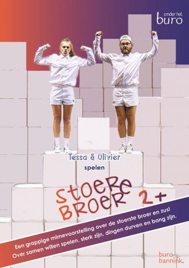 stoere broer zus Olivier Tessa kindertheater kindervoorstelling cultuureducatie jeugdtheater mime