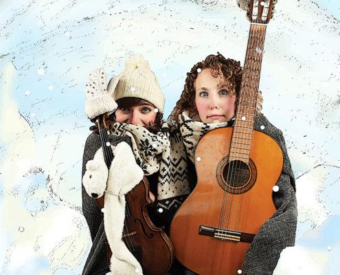 peuter kleuter liedjes winter kindertheater kindervoorstelling cultuureducatie Susan Spoormans Rosanne Wiertz