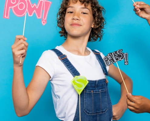 theater dagproject workshop lessen op school superheld