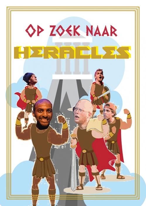 Flyer Hercules jeugdtheater voorstelling door De Nachtdieren