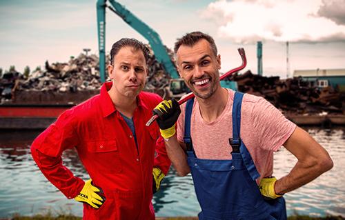 De Hermannen in de haven, jeugdtheater voorstelling over recyclen
