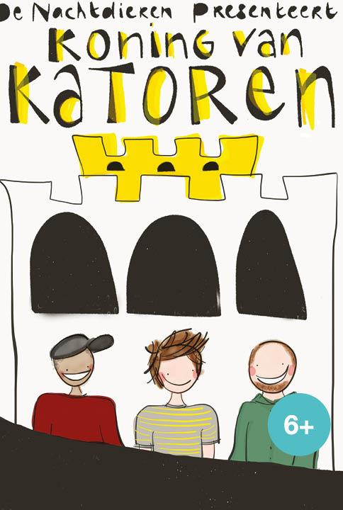 Koning van Katoren een jeugdtheater voorstelling de Nachtdieren naar een boek van Jan Terlouw