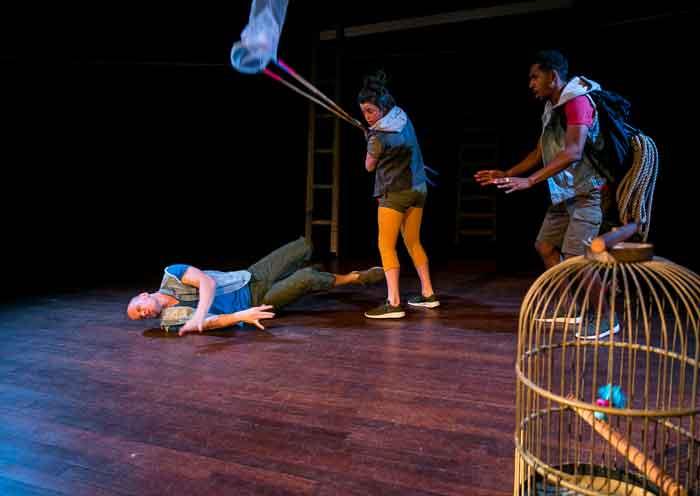 Mannetjes met plannetjes stoer energiek kindertheater kindervoorstelling cultuureducatie Ana Lozica Onder Buro
