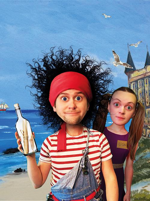 flyer Piraten van kamer 16 jeugdtheater voorstelling