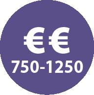 Icoon prijs tussen 750 euro en 1250 euro