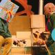 Wachten op Kado, beeldend jeugdtheater slapstick